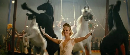 Marlena and her horses from the 20th Century Fox Film Water for Elephants