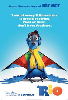 poster from the Twentieth Century Fox Animation film Rio