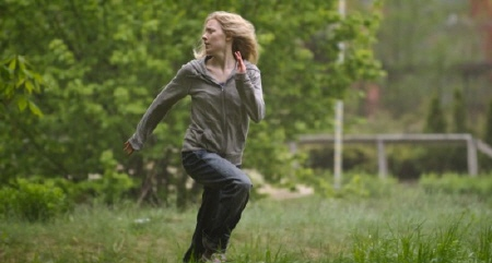 Hanna runs away from the Focus Features film Hanna