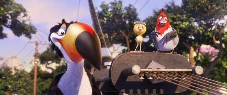 Rafael, Nico, and Pedro from the Twentieth Century Fox Animation film Rio