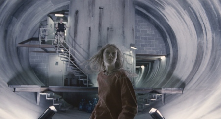 Hanna escaping from the facility from the Focus Features film Hanna