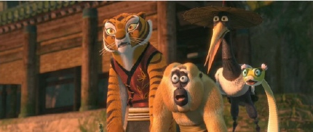 furious five aghast from the Dreamworks Animation film Kung Fu Panda 2