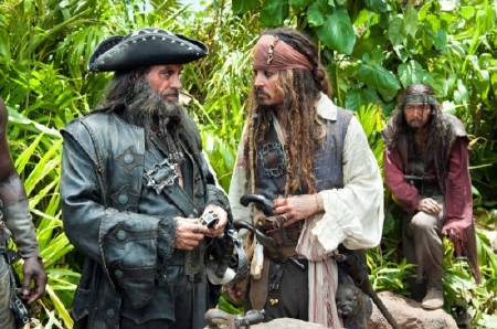 Blackbeard and Jack from the Walt Disney Pictures film Pirates of the Caribbean On Stranger Tides