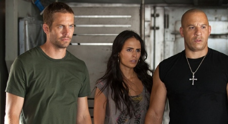 Brian Mia and Dominic from the Universal Pictures film Fast Five