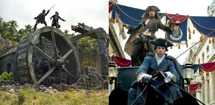 Water Wheel Duel vs Carriage Top Escape from the Walt Disney Pictures film Pirates of the Caribbean On Stranger Tides