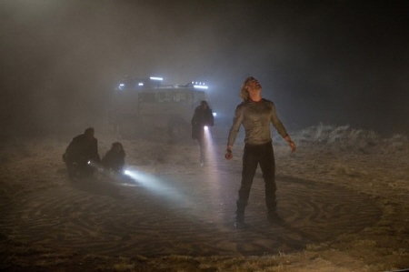 Thor arrives in the desert from the Paramount Pictures film Thor