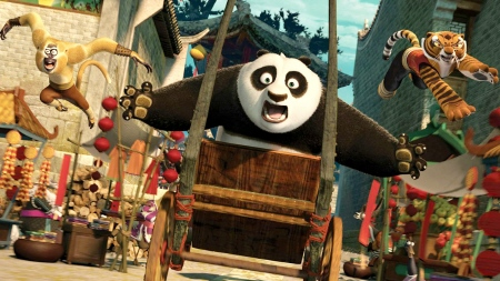 Po on a rickshaw from the Dreamworks Animation film Kung Fu Panda 2
