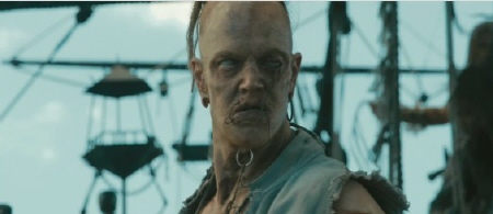 Blackbeard zombie from the Walt Disney Pictures film Pirates of the Caribbean On Stranger Tides