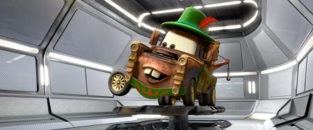 Mater in liederhosen from the Disney Pixar film Cars 2