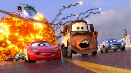 explosion from the Disney Pixar film Cars 2