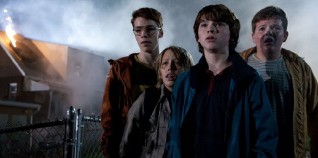 Martin, Carey, Joe, and Charles from the Paramount Pictures film Super 8