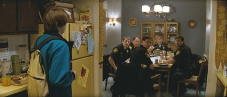 Joe sees his dad doing police work from the Paramount Pictures film Super 8