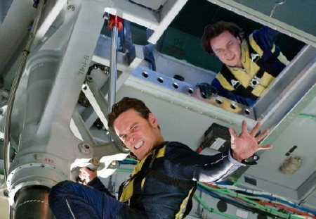 Erik and Charles teamwork from the Marvel Studios film X-Men: First Class