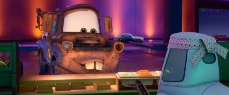 Mater eats Wasabi from the Disney Pixar film Cars 2