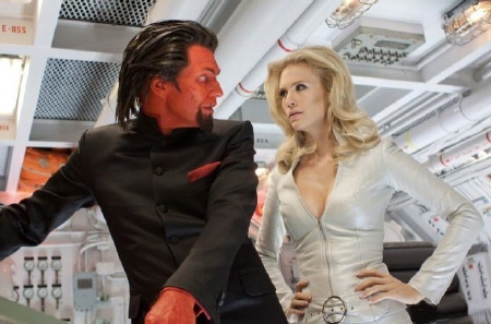Azazel and Emma Frost from the Marvel Studios film X-Men: First Class