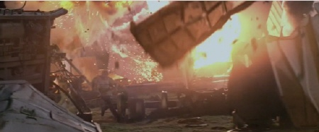 train crash from the Paramount Pictures film Super 8