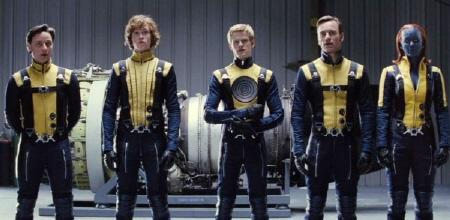 Banshee, Havok, Professor X, Magneto, and Mystique from the Marvel Studios film X-Men: First Class