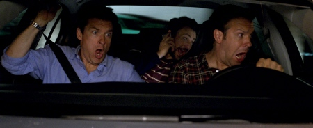 the boys driving from the Warner Bros Pictures film Horrible Bosses