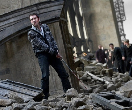 Neville being a hero from the Warner Bros. Pictures film Harry Potter and the Deathly Hallows Part 2