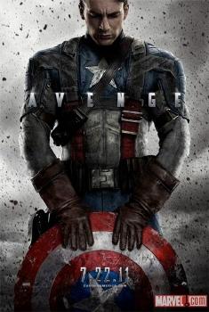 poster from the Marvel Studios film Captain America the First Avenger