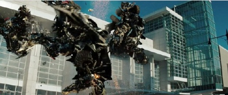 robots battle from the Paramount Pictures film Transformers Dark of the Moon