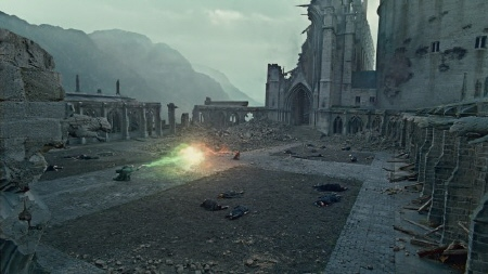 Harry and Voldemort duel from the Warner Bros. Pictures film Harry Potter and the Deathly Hallows Part 2