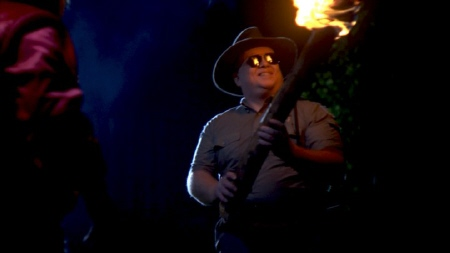 flaming log from the movie Legend of the Psychotic Forest Ranger