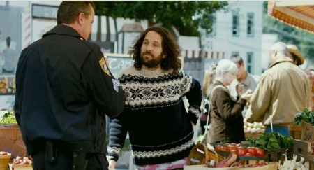 Ned sells weed to a cop from the movie Our Idiot Brother