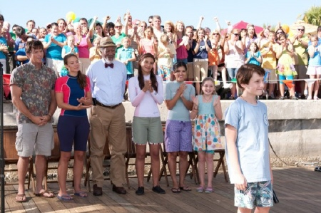 Sawyer gives a speech from the Warner Bros. Pictures film Dolphin Tale