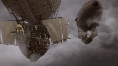 airship battle from the Constantin Film Three Musketeers 2011