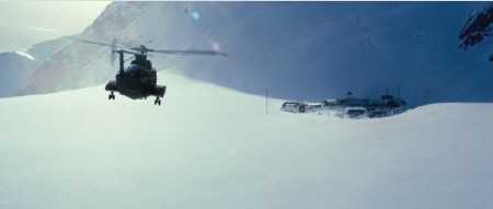 Sea King approaching Thule Base from the Universal Pictures film The Thing 2011