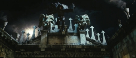 Luke Evans as Aramis jumps off a bridge from the Constantin Film Three Musketeers 2011