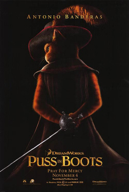 poster from the Dreamworks film Puss in Boots