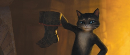 Kitty steals Puss boots from the Dreamworks film Puss in Boots