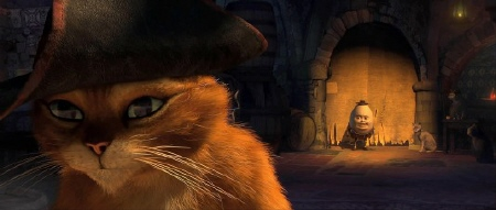 Puss turns away from his old friend Humpty from the Dreamworks film Puss in Boots