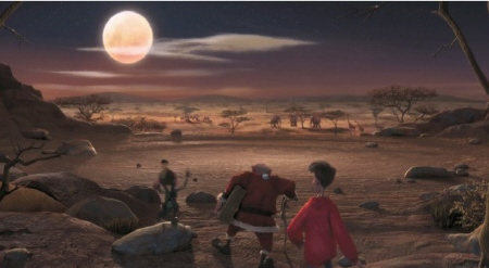 accidentally in Africa from the Aardman Sony film Arthur Christmas