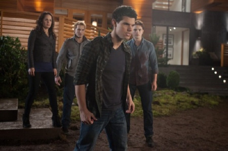 Jacob and the vampires defend Bella from the Summit Entertainment film Breaking Dawn Part 1
