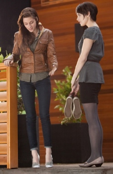 Bella and Alice try on shoes from the Summit Entertainment film Breaking Dawn Part 1