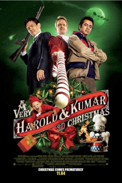 poster from the Warner Bros Pictures film a Very Harold and Kumar 3D Christmas