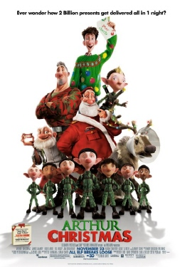poster from the Aardman Sony film Arthur Christmas