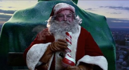 Santa smokes weed from the Warner Bros Pictures film a Very Harold and Kumar 3D Christmas