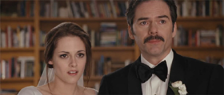 Bella and Charlie at the wedding from the Summit Entertainment film Breaking Dawn Part 1