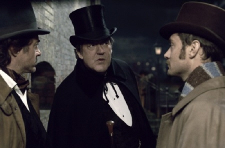 Mycroft meets Watson from the Warner Bros. Pictures film Sherlock Holmes a Game of Shadows