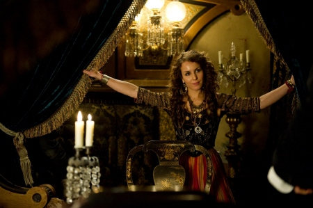 Noomi Rapace as the gypsy from the Warner Bros. Pictures film Sherlock Holmes a Game of Shadows