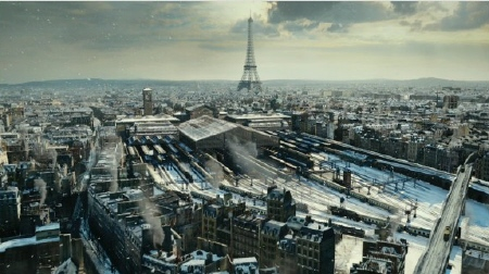 Paris train station in winter from the GK Films movie Hugo