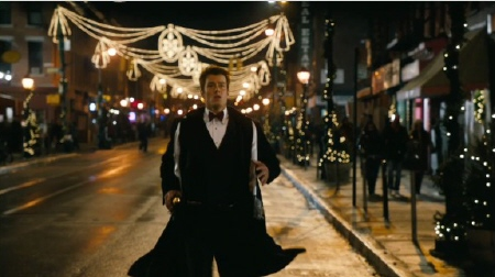 Josh Duhamel running from the New Line Cinema film New Years Eve