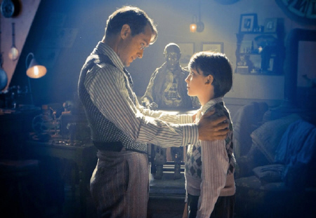 Jude Law and Asa Butterfield from the GK Films movie Hugo