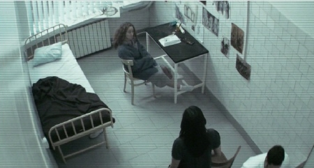 Isabella and Maria at the mental hospital from the film The Devil Inside