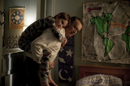 Oskar and his dad from the Warner Bros. Pictures film Extremely Loud and Incredibly Close