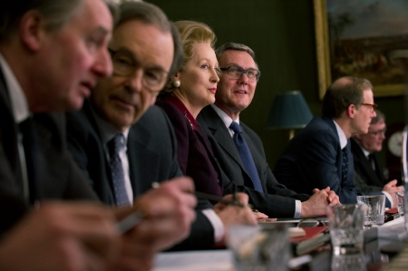 Thatcher in a cabinet meeting from the Film 4 movie The Iron Lady